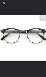 Fake Vintage Uzzlang Trendy Retro Spectacle Glasses
