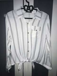 YFS Formal White Stripe Blouse