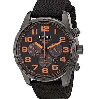 Seiko ssc233 黑橙鋼錶