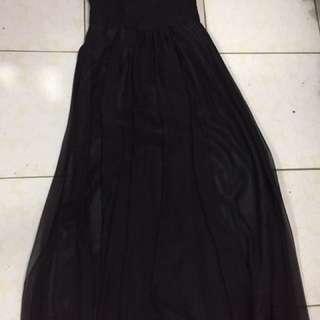 Black Tube Bridesmaid Dress
