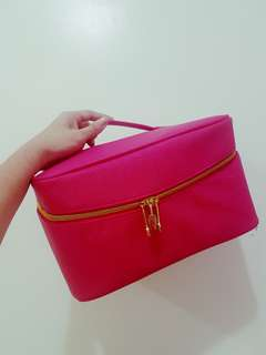 Hot Pink with Gold Detail Storage Box (Pre-Loved)