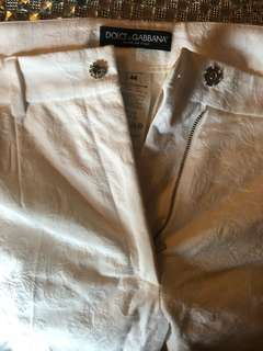 D&g white dress pants size 44