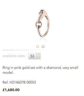 💯Hermes 型! 玫瑰金戒指 💍