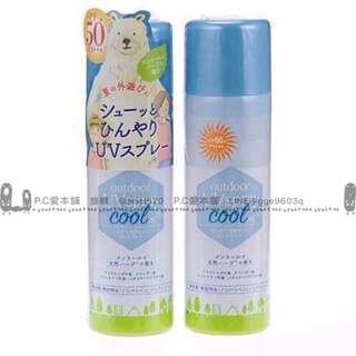 日本連線預購日本製 北極熊涼感防曬驅蚊噴霧