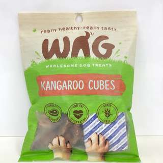 WAG Organic Dog Treats (Kangaroo Cubes)