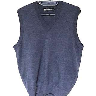 Ettore Bugatti Grey Knitted Vest