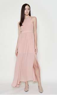 (BN) Anya Open-back Maxi Dress in Rose