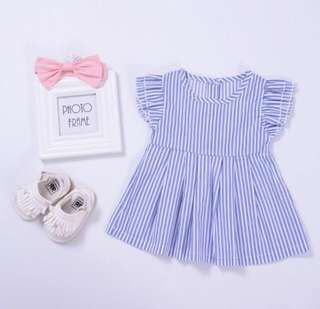 Blue striped dress (PRE-ORDER)