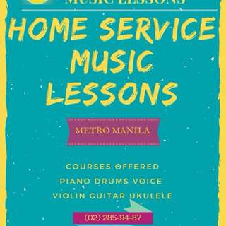 Home Service Music Lesson