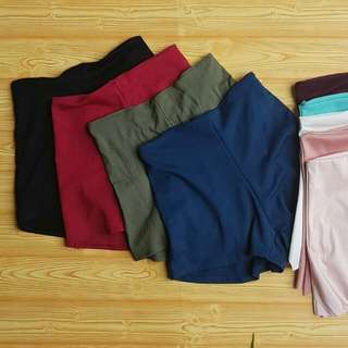 Highwaist Shorts Solid Colors