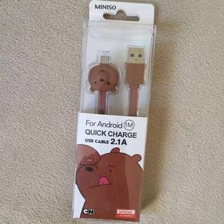 Quick Charge 1m USB cable for Android