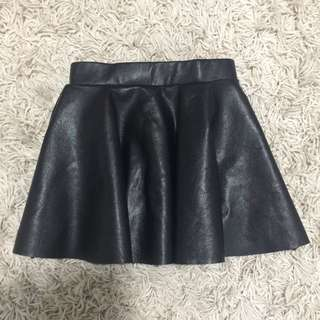 SEED kids pu leather skirts