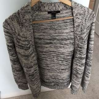 F21 salt & pepper winter sweater - size S