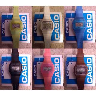 Casio Digital F-91W Watches Multi Colour
