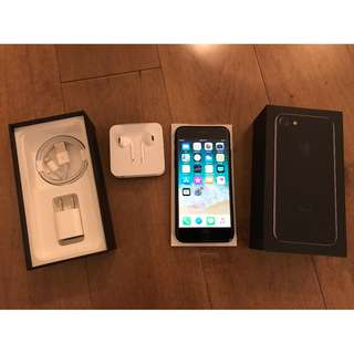 BRAND NEW iPhone 7 JET BLACK 32GB opened box NEVER USED