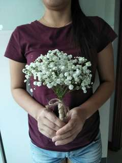 Baby breath hand bouquet