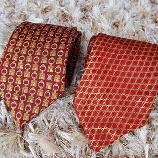 Authentic Ferragmo & Celine Neckties