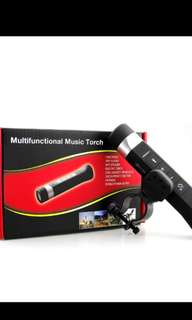 Multi function bluetooth music torch