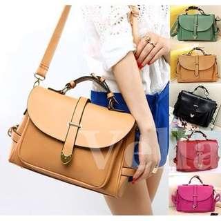 2779 VELLA Vintage Belt Tote Bag Casual Handbag