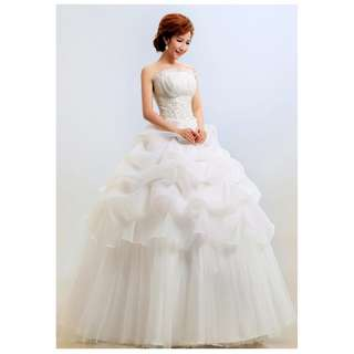 EWG18013 STRAPLESS LACE PRINCESS BALL GOWN