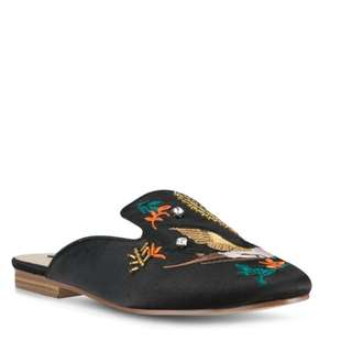 Embroidered Slider Slip-on Slipper Sandal