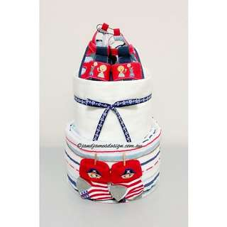 "2-Tier ""Mummy's Little Boy"" Nappy Cake Design"