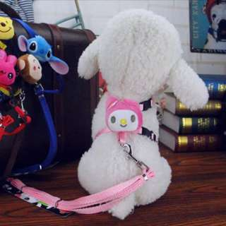 My melody leash chest dog puppy kitten cat pink cute sweet