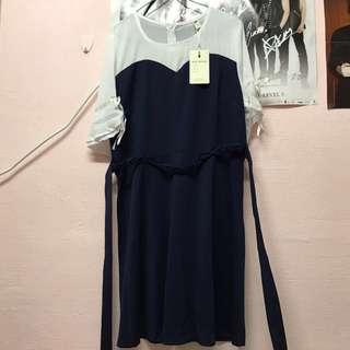 Navy Blue Plus Size Dress