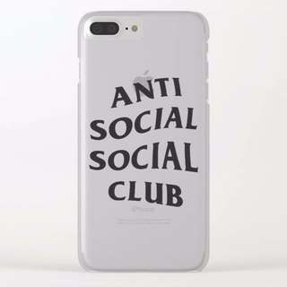 ANTI SOCIAL CLEAR CUSTOM CASE