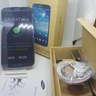 SAMSUNG GALAXY MEGA...With sim card& wifi  % 95 percent clean &....Freebies:headset&usb adaptor.....PHONE STORAGE 8 GB   with box                                     Only    799 hkd........  Grab this promotion Gadgets in a very low price
