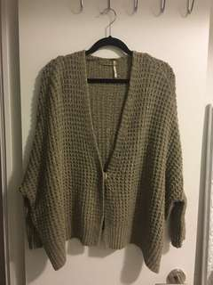 Oversized Free People Cardigan in XS