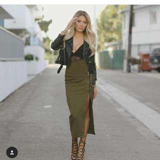 Misguided Khaki skirt