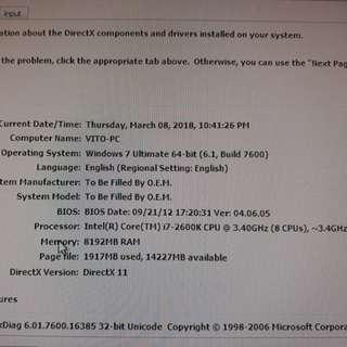 Gaming / Rendering PC i7 2600k