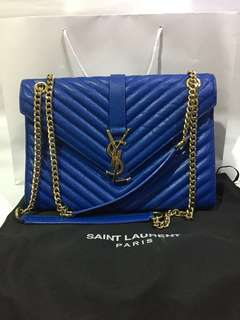 Reduce Price!!🌸YSL Large Monogram Satchel in Royal Blue🌸