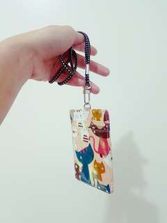 Cat Multi Pocket and Clear Pocket Lanyard (Pre-Loved)
