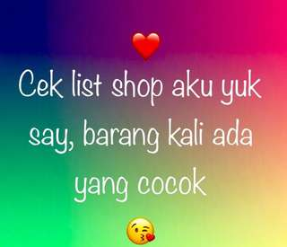 Cek list shop