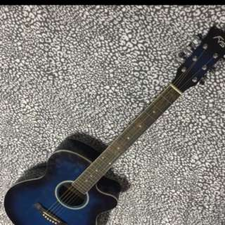 REPRICED!!! FV Stevens Blue Guitar