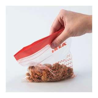 Ikea istad isi 60pcs kantong plastik kedap dan bisa di tutup kembali