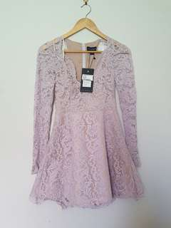 Style Stalker lilac lace dress BNWT