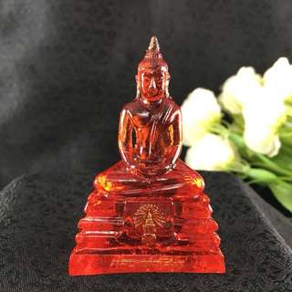 Thai Blessed RED Buddha LP Sothorn Amulet BIRTHDAY SUNDAY Resin Lucky Charm 3""