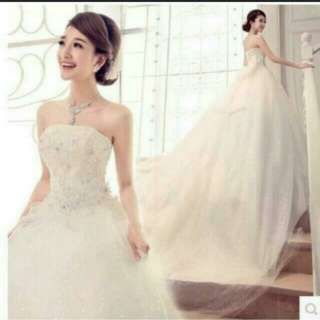 BN Wedding Gown with Long Train
