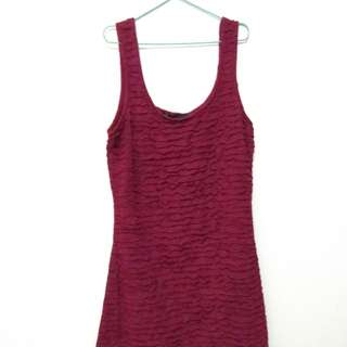 Minidress Maroon