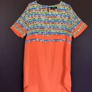 Multicoloured t-shirt style dress