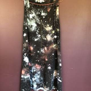 Galaxy printed Volcolm dress