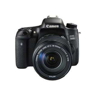 Canon EOS 760D Kit EF-S 18-135mm f3.5-5.6 IS STM WiFi  Credit Tanpa CC