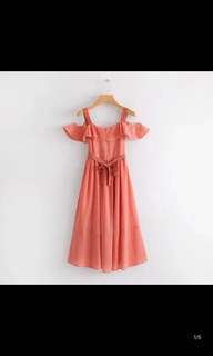 Europe and the United States New Slim Thin Strap Red dress