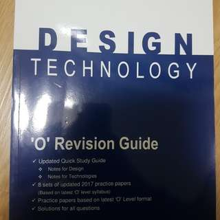 Design and Technology o level revision guide book