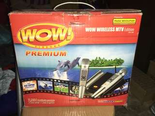 WOW! Videoke Premium - WOW Wireless MTV Edition TKR-320