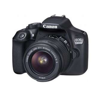 Canon EOS 1300D with 18-55mm f3.5-5.6 IS II  Credit Tanpa CC