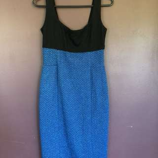 Blue & Black sparkle dress